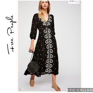 NWT Embroidered Fable Midi Dress
